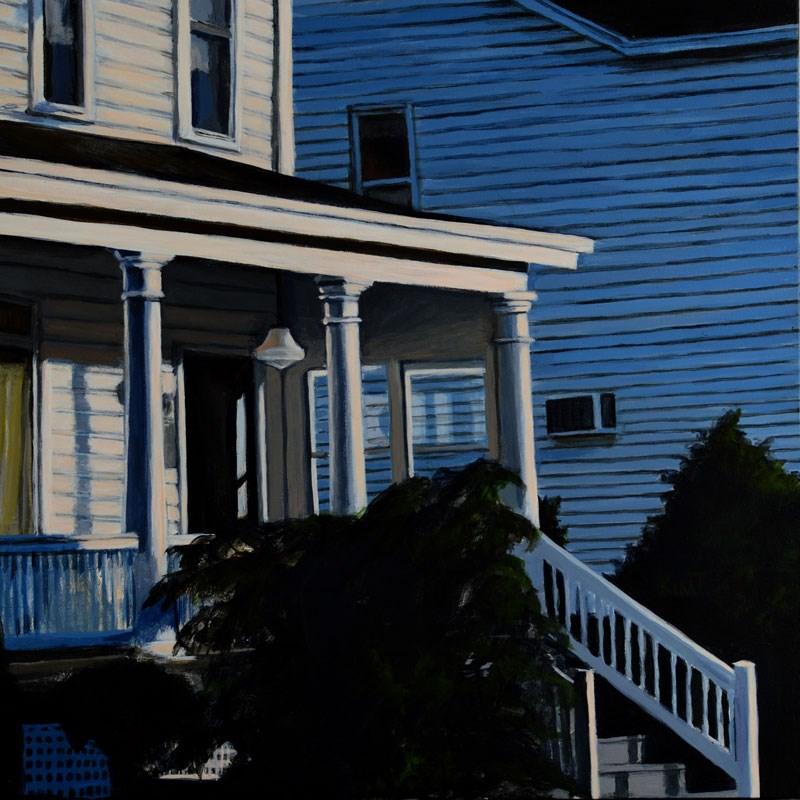 """""""Small American Town 2"""" original fine art by Kim Testone"""