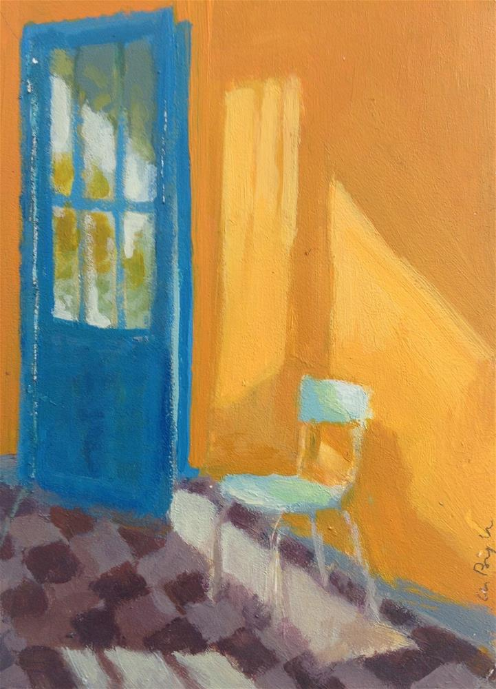 """Sun in yellow room"" original fine art by Christine Bayle"