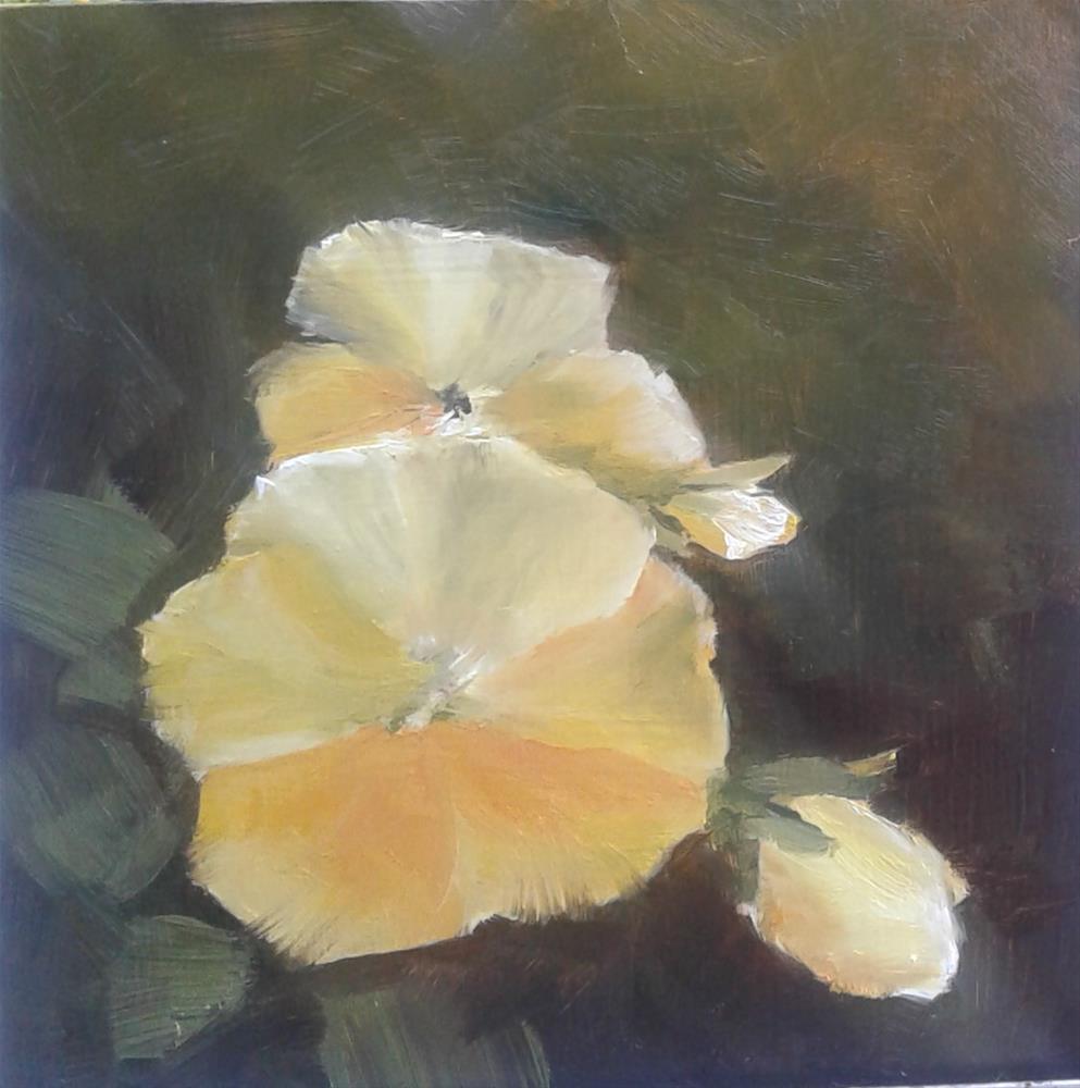 """Yellow Pansy"" original fine art by Jenny Kinberg"