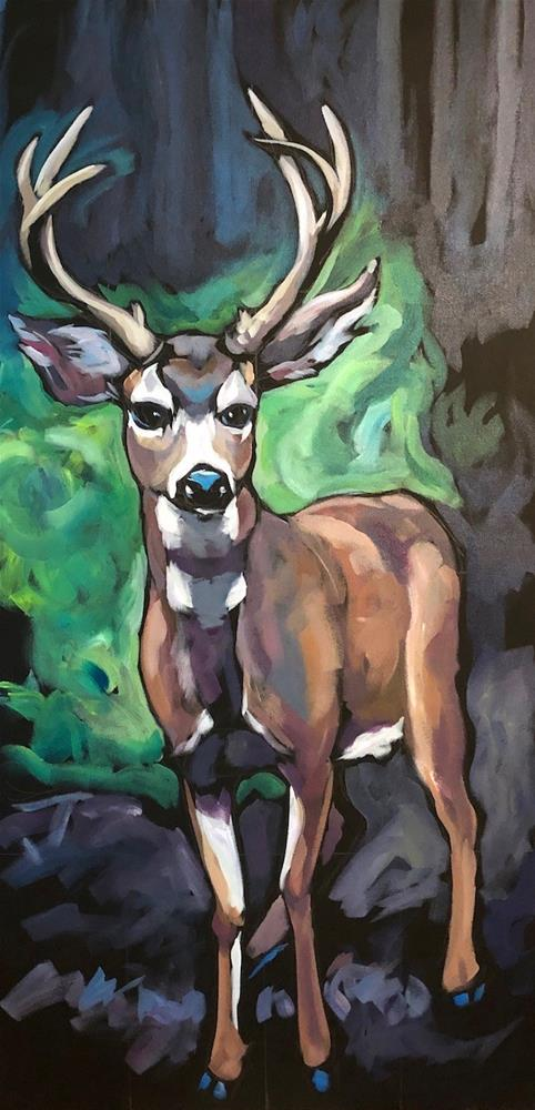 """Buck Up "" original fine art by Kat Corrigan"