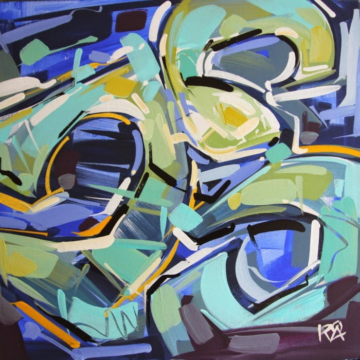 """Shapes & Movement 26"" original fine art by Roger Akesson"