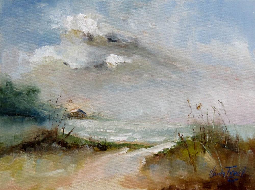 """""""Sunspot at Lido Beach"""" original fine art by Christa Friedl"""