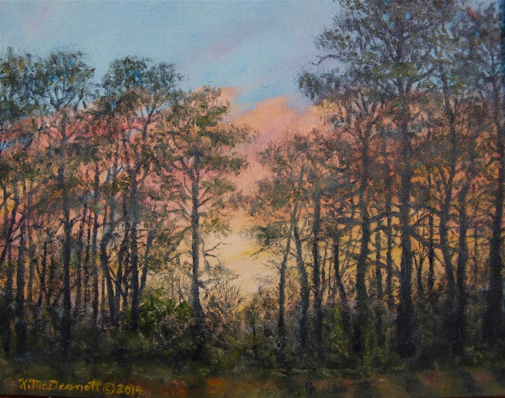"""""""Border Pines"""" original fine art by Kathleen McDermott"""