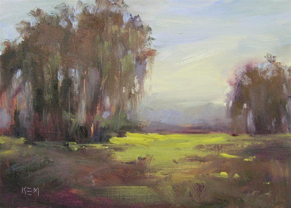"""""""Spring landscape oil"""" original fine art by Karen Margulis"""