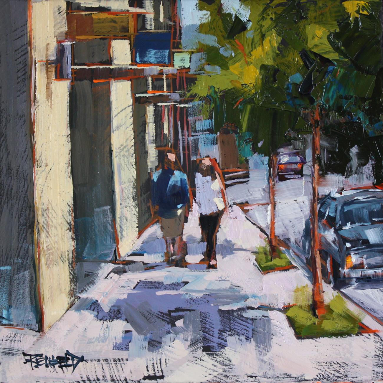 """Downtown Hood River"" original fine art by Cathleen Rehfeld"