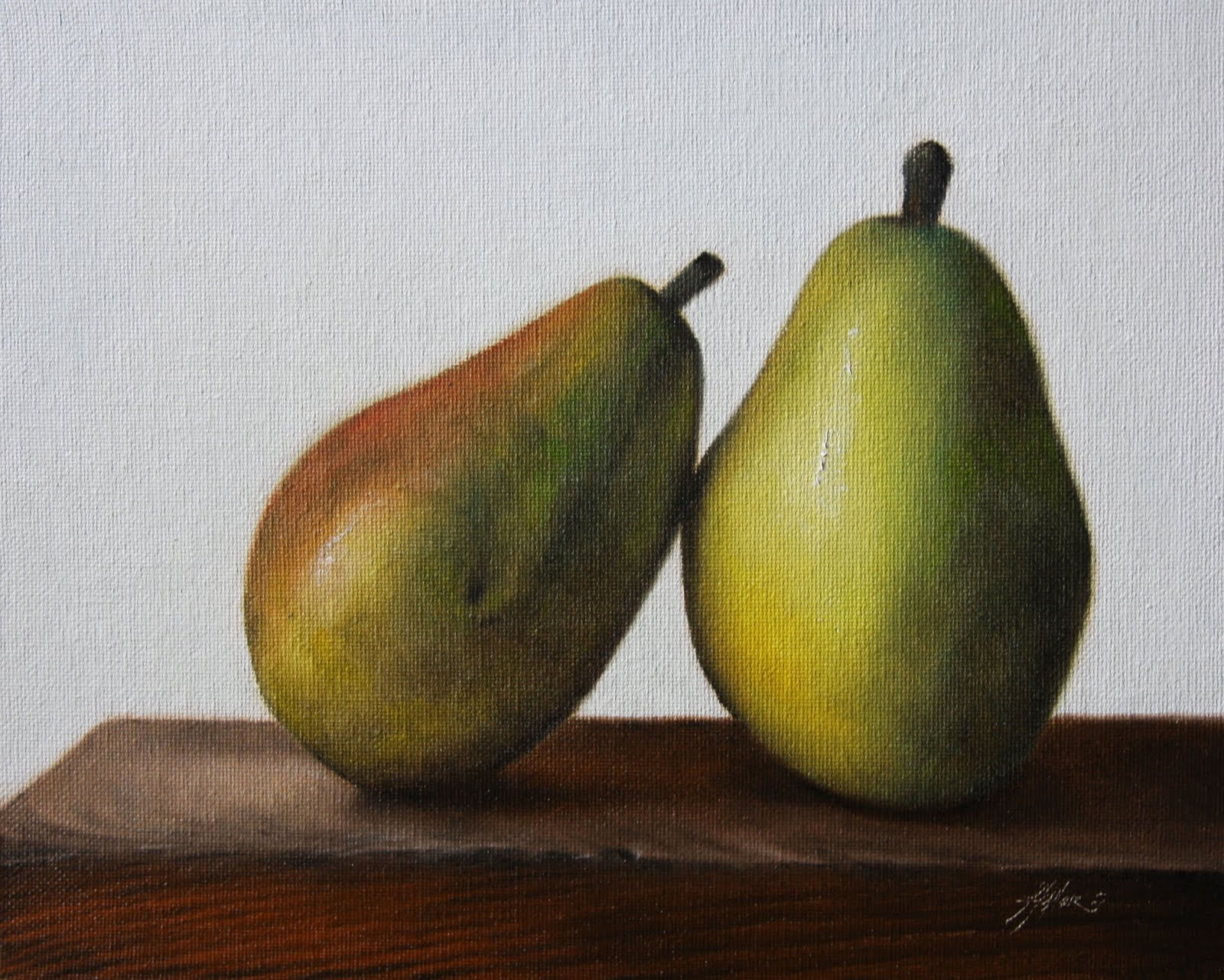 """Leaning Pear"" original fine art by Jonathan Aller"