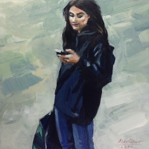 """""""090 Das Lächeln"""" original fine art by Anja Berliner"""