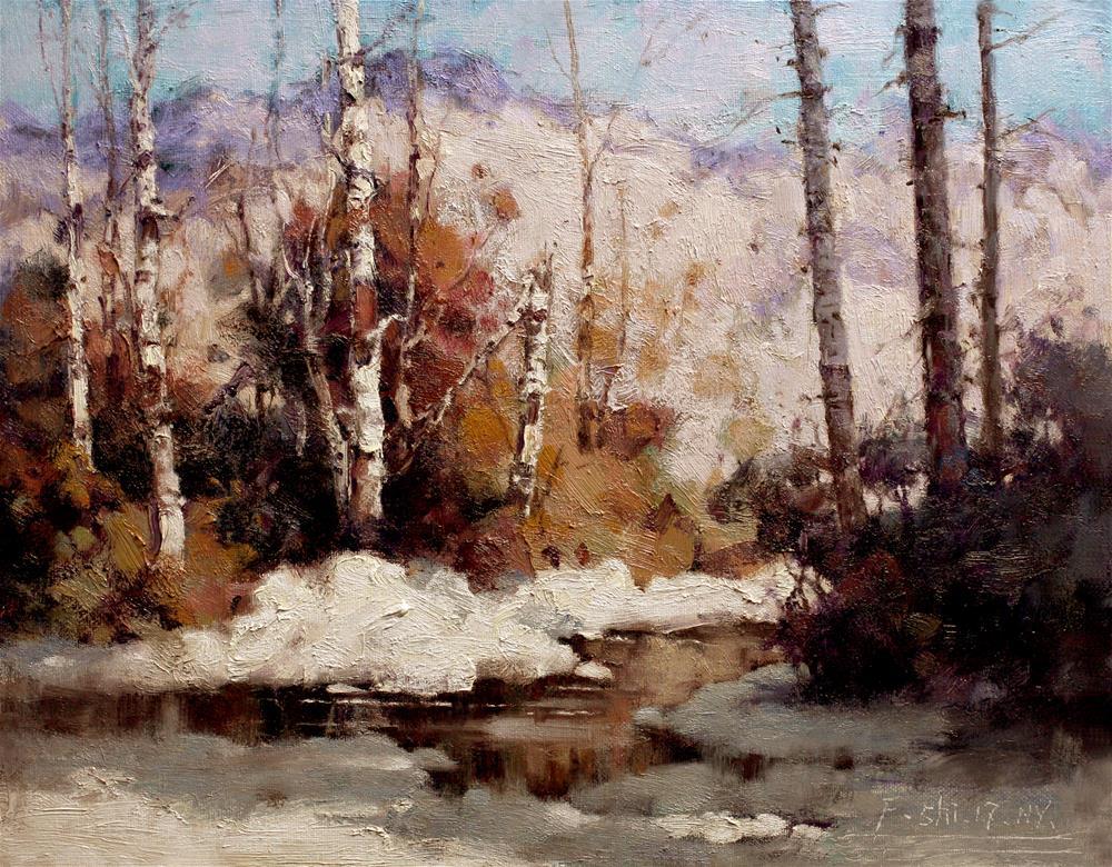 """Landscape(10)"" original fine art by fengshi jin"