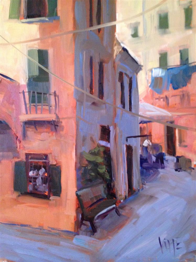 """#175 Cinque Terre, Italy"" original fine art by Patty Voje"