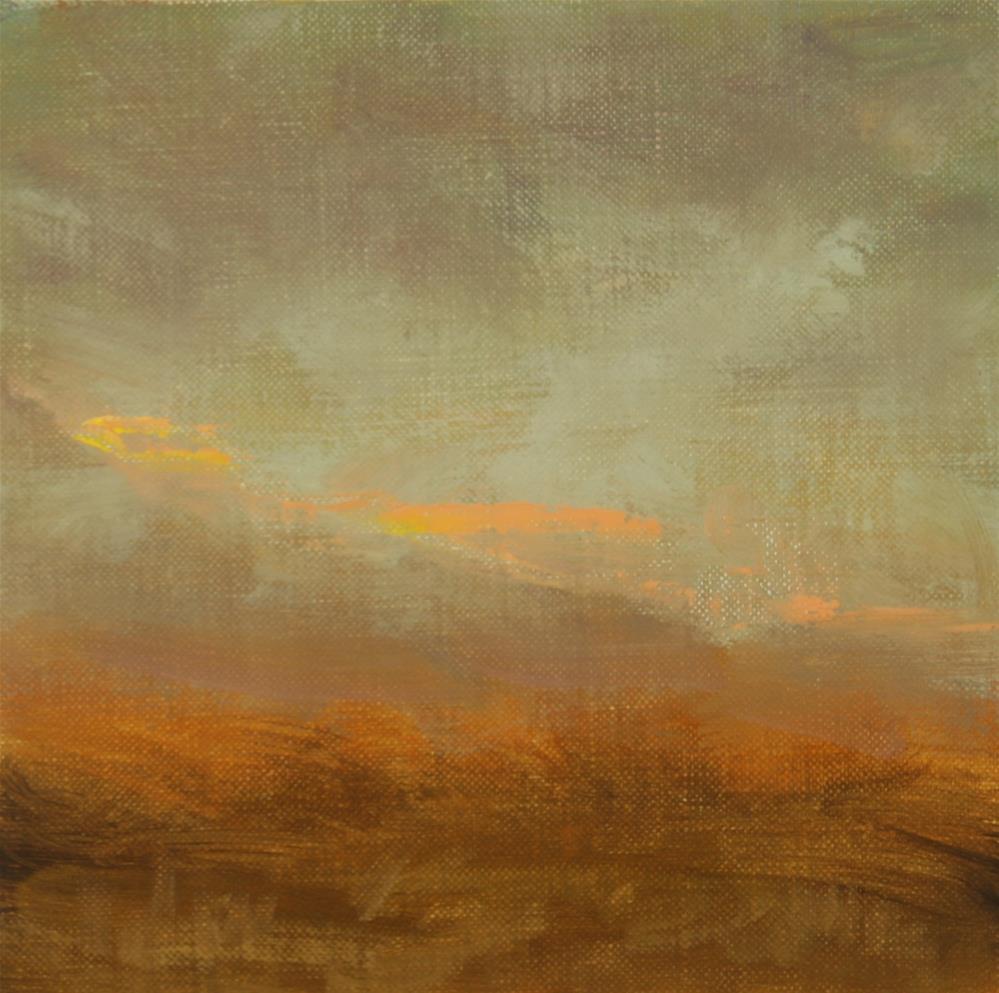 """""""Fall Sunset 14"""" original fine art by Scott Serafica"""