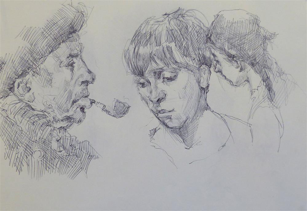 """sketchbook59"" original fine art by Katya Minkina"