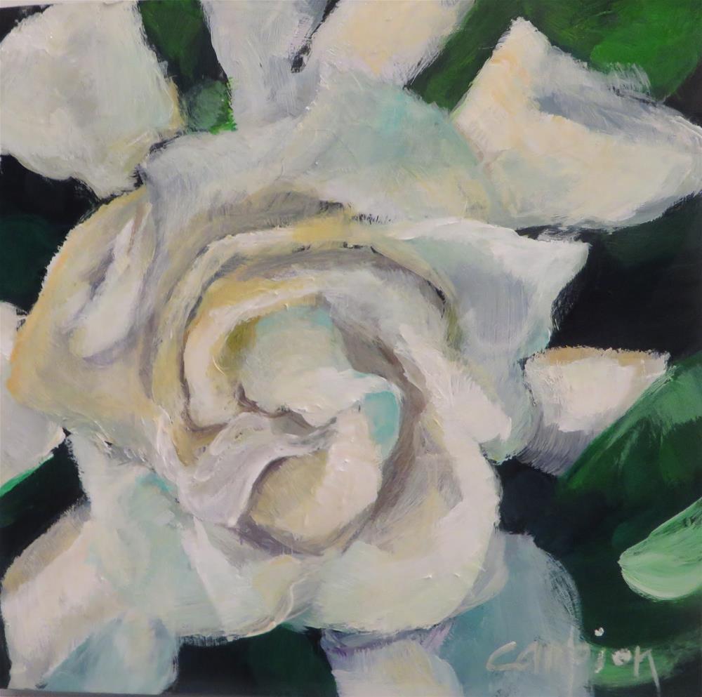 """675 Gardenia"" original fine art by Diane Campion"
