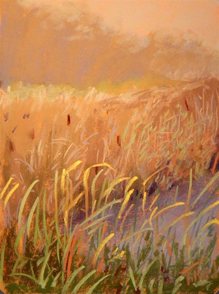 """Marsh mist"" original fine art by Toby Reid"