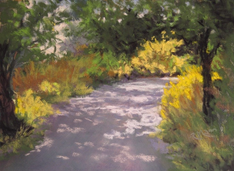 """Summer Walk"" original fine art by Ruth Mann"