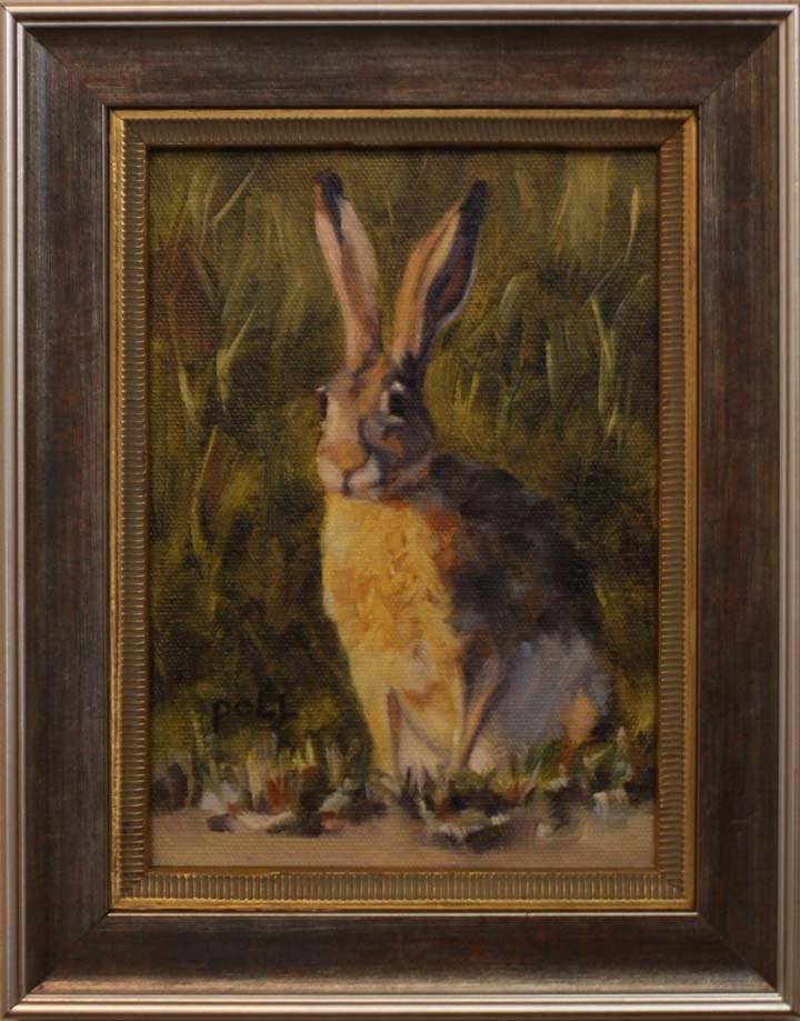 """Jackrabbit Sitting Pretty"" original fine art by Pamela Poll"