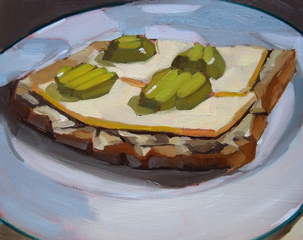 """A Finnish Pickle Sandwich"" original fine art by Robin Rosenthal"