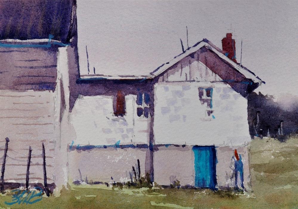 """The Blue Door Study"" original fine art by Brienne M Brown"