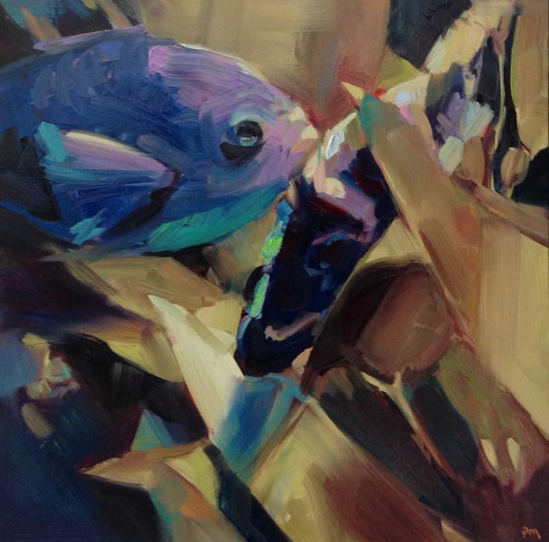 """""""Traffic Jam in Blue"""" original fine art by Patti McNutt"""