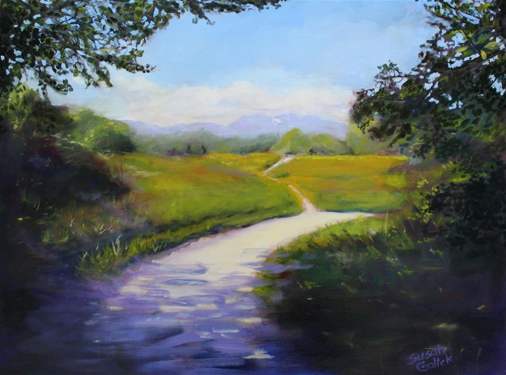 """Fort Langley Trail"" original fine art by Susan Galick"