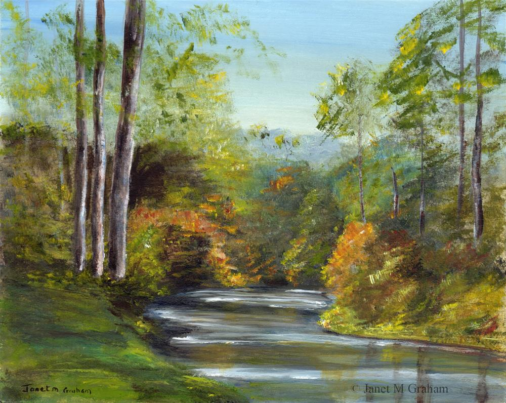 """Autumn River 2"" original fine art by Janet Graham"