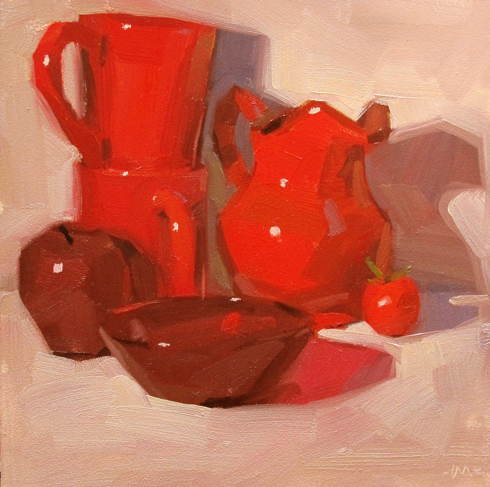 """""""For the Love of Red"""" original fine art by Carol Marine"""