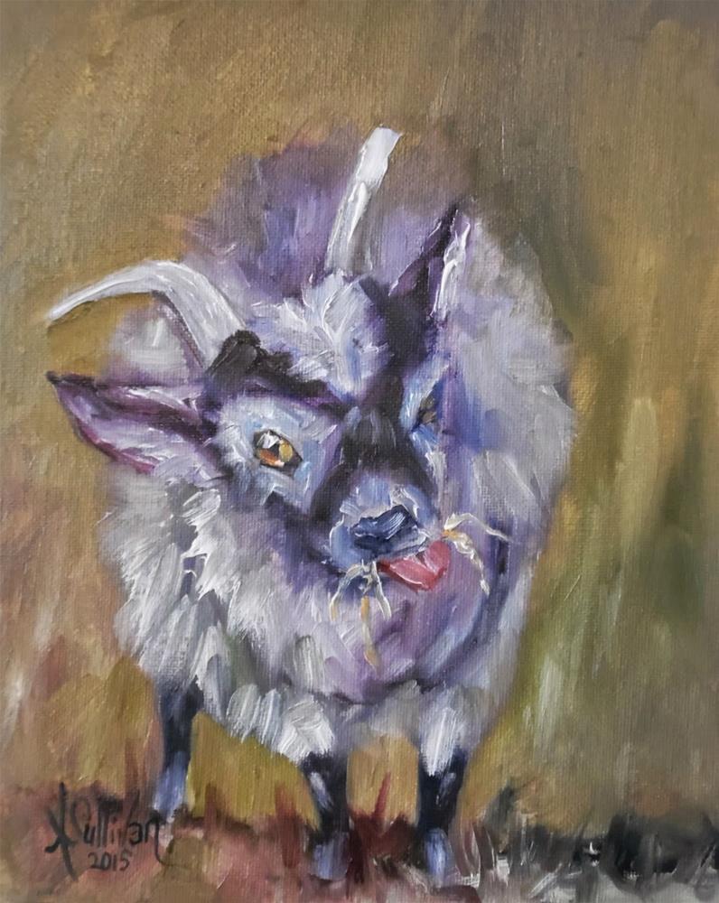 """""""Muncheon Luncheon goat painting by Alabama Artist Angela Sullivan"""" original fine art by Angela Sullivan"""