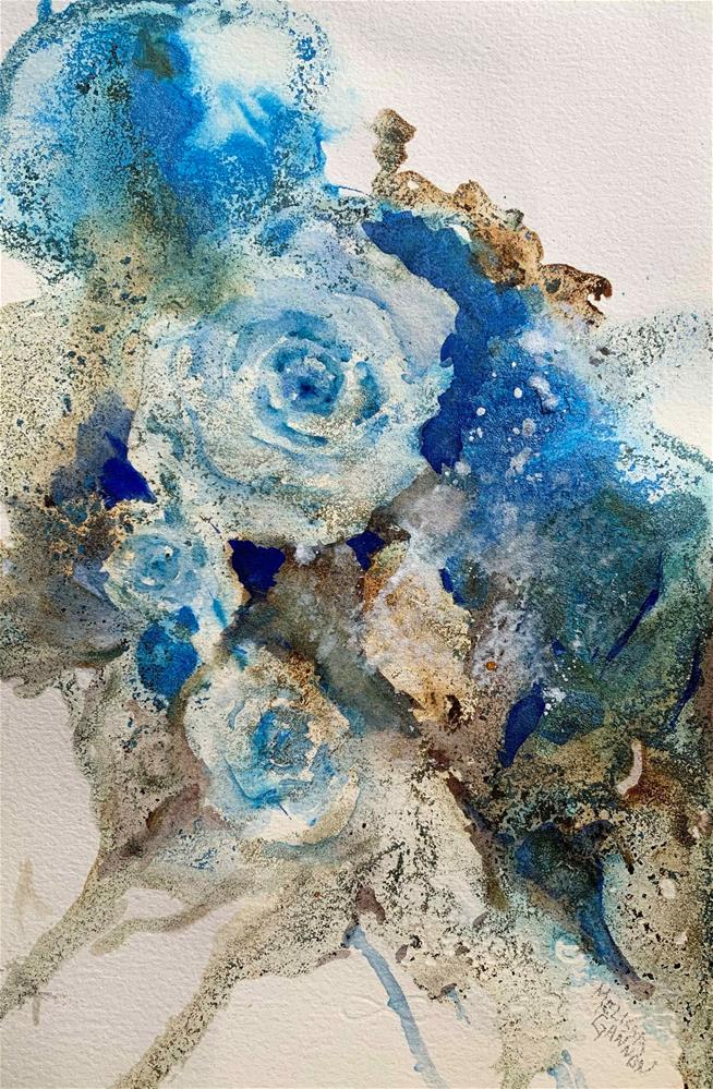 """Sparkles of Blue"" original fine art by Melissa Gannon"