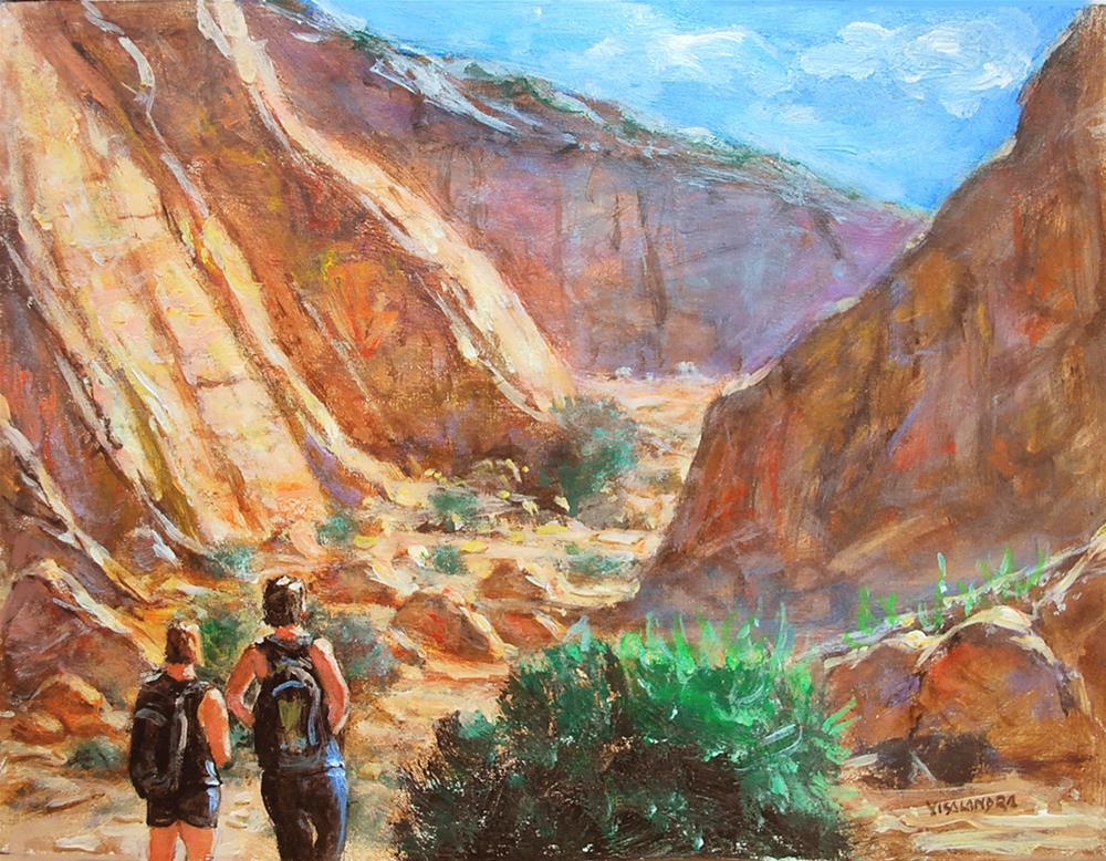 """""""arizona tourists 2"""" original fine art by vishalandra dakur"""