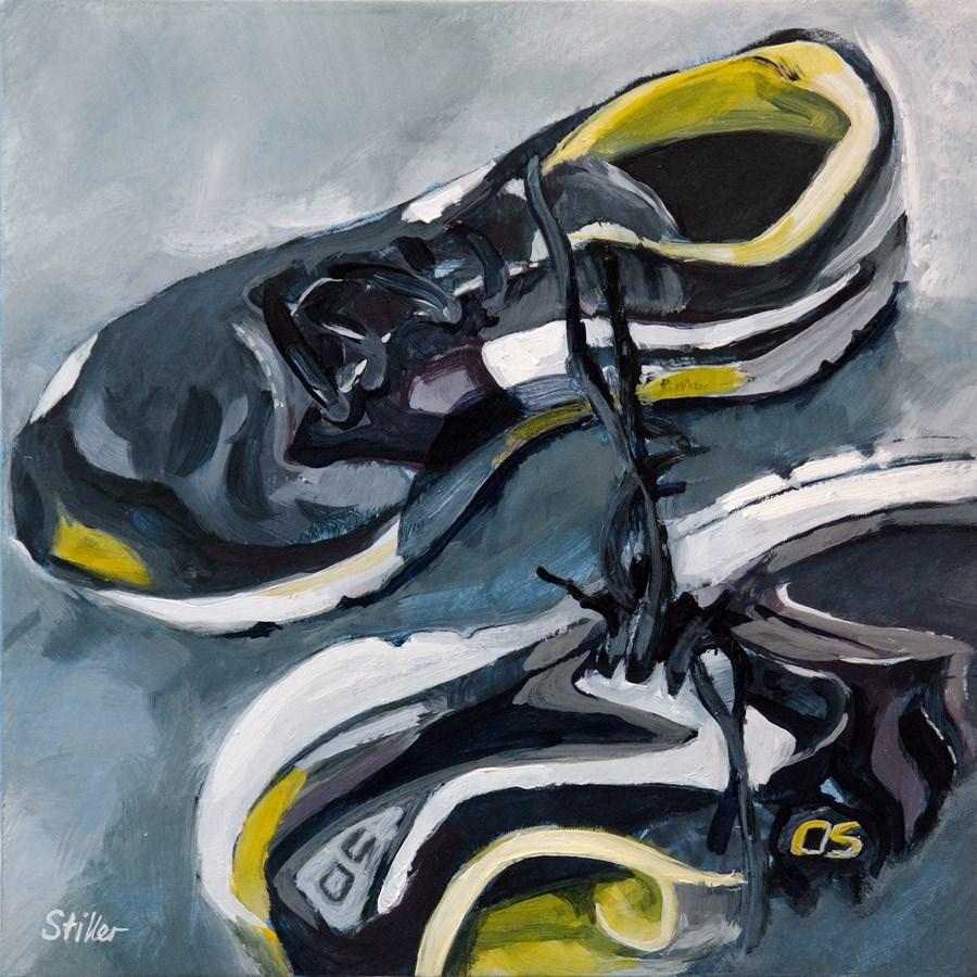 """""""2243 Running Shoes"""" original fine art by Dietmar Stiller"""