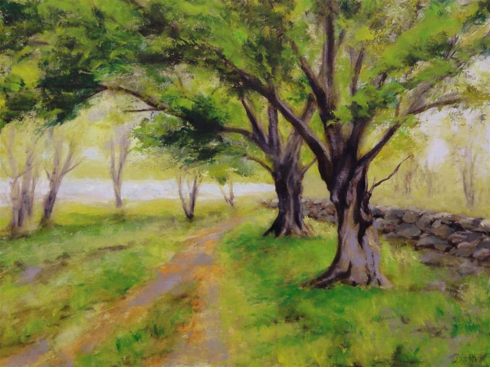 """English Oaks On The Loch Trail"" original fine art by Dalan Wells"