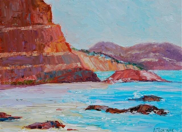 """""""San Diego Beach"""" original fine art by Liz Zornes"""