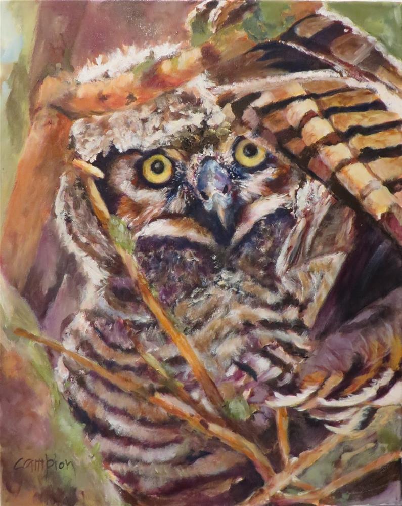 """""""851 Under Her Wing"""" original fine art by Diane Campion"""