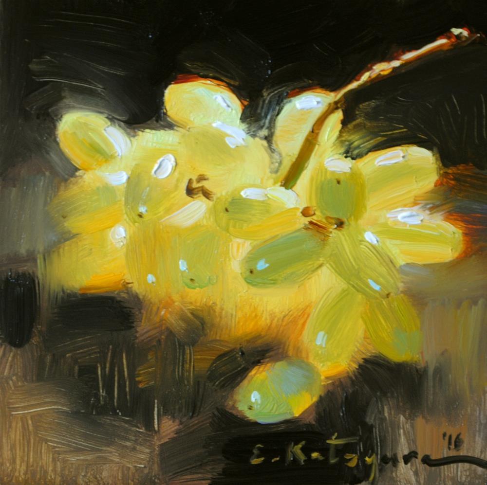 """Thompson Seedless Grapes"" original fine art by Elena Katsyura"