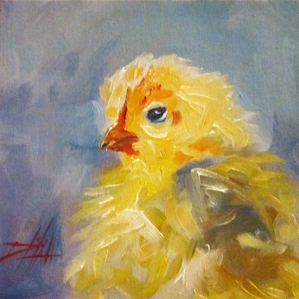 """Chick"" original fine art by Delilah Smith"