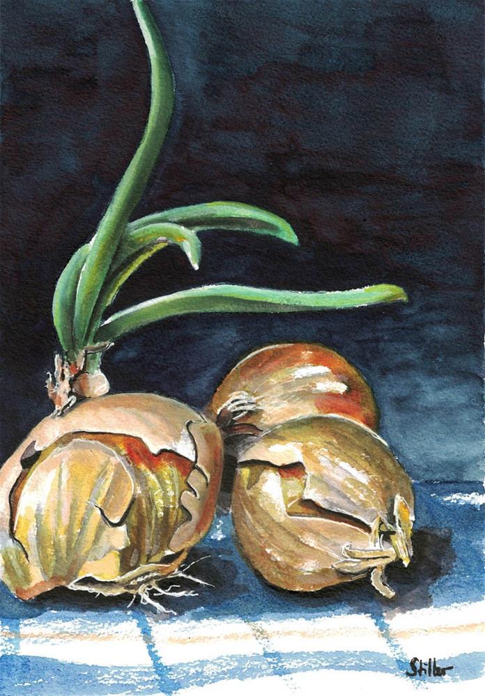 """3143 Three Onions"" original fine art by Dietmar Stiller"