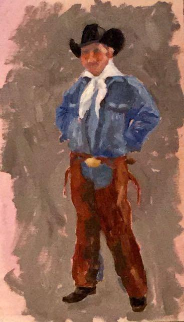 """My Heroes Have Always Been Cowboys #2"" original fine art by Judy Elias"