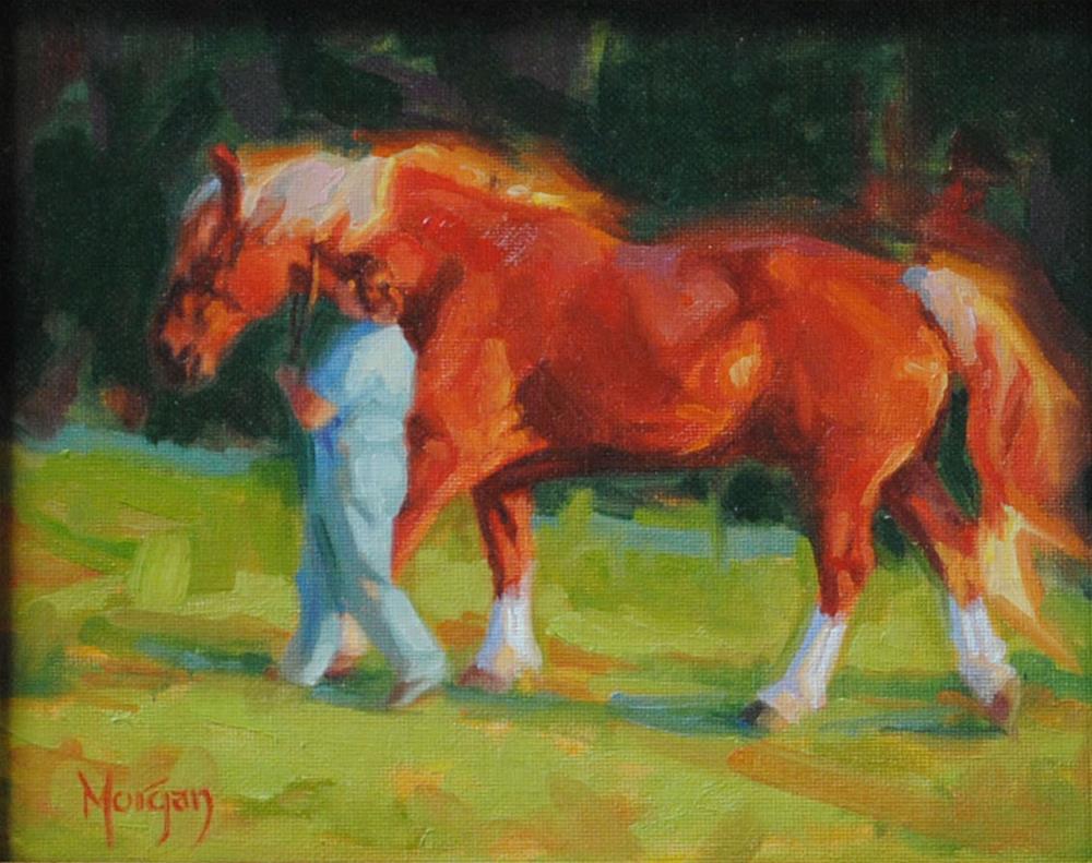 """Turnout"" original fine art by Cecile W. Morgan"