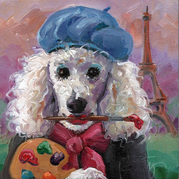 """POODLE PALETTE"" original fine art by Kristy Tracy"