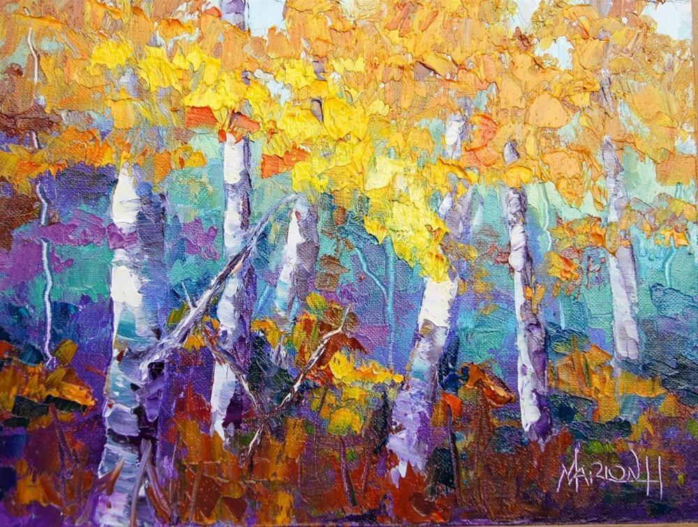 """""""Autumn Joy oil painting"""" original fine art by Marion Hedger"""