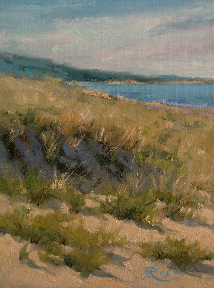 """Vineyard walk"" original fine art by Howard Rose"