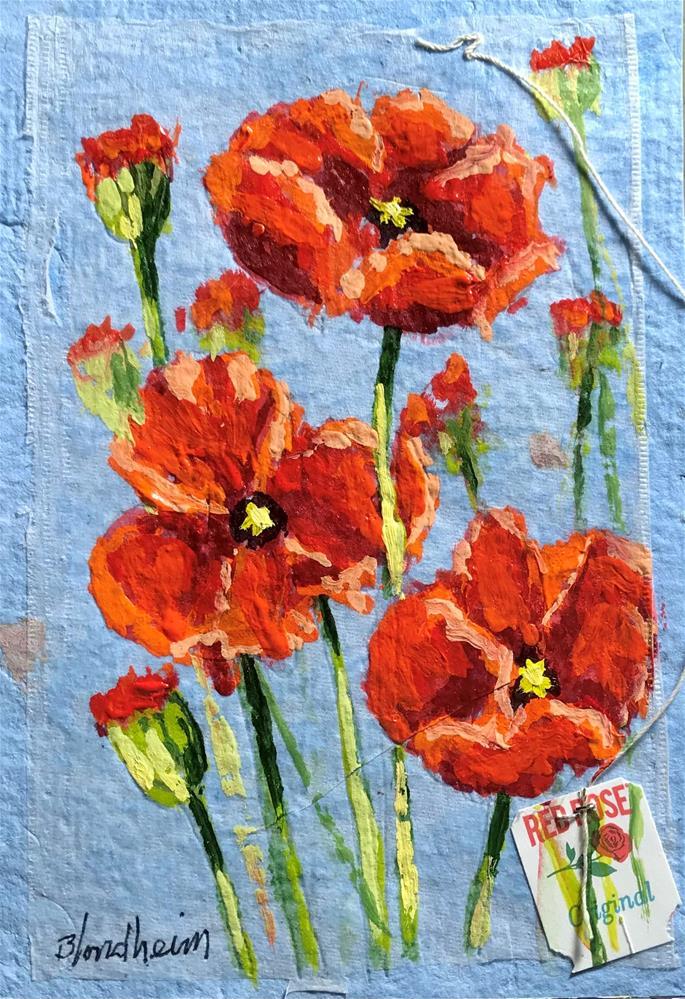 """""""Poppies"""" original fine art by Linda Blondheim"""