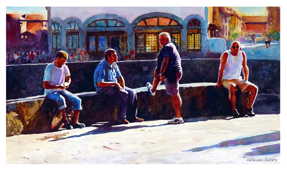 """Just passing time"" original fine art by Graham Berry"