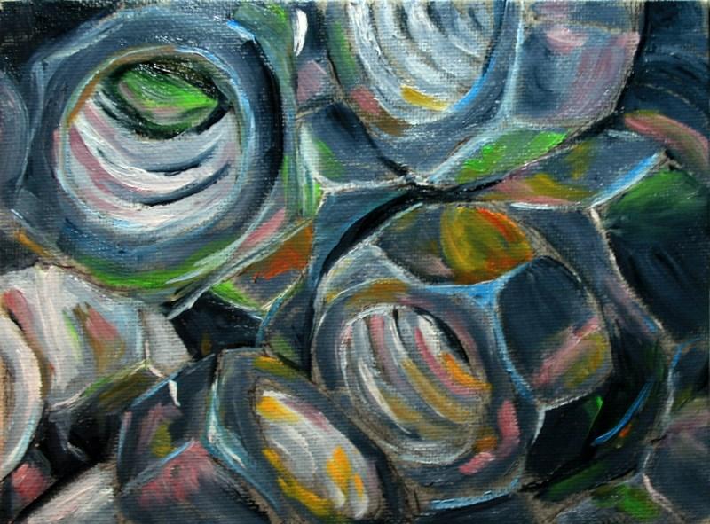 """""""Nuts"""" original fine art by Jean Nelson"""