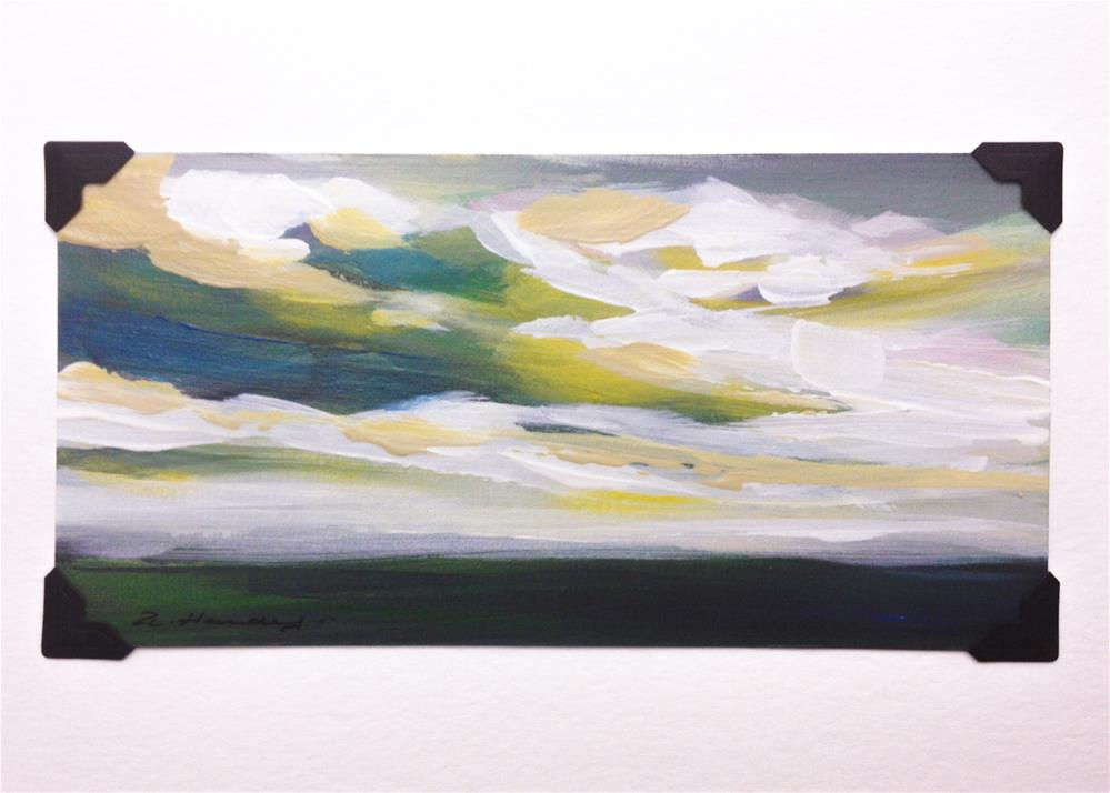 """""""landscape study #2 mounted on 5x7 White Watercolor card"""" original fine art by Angela Hardy"""