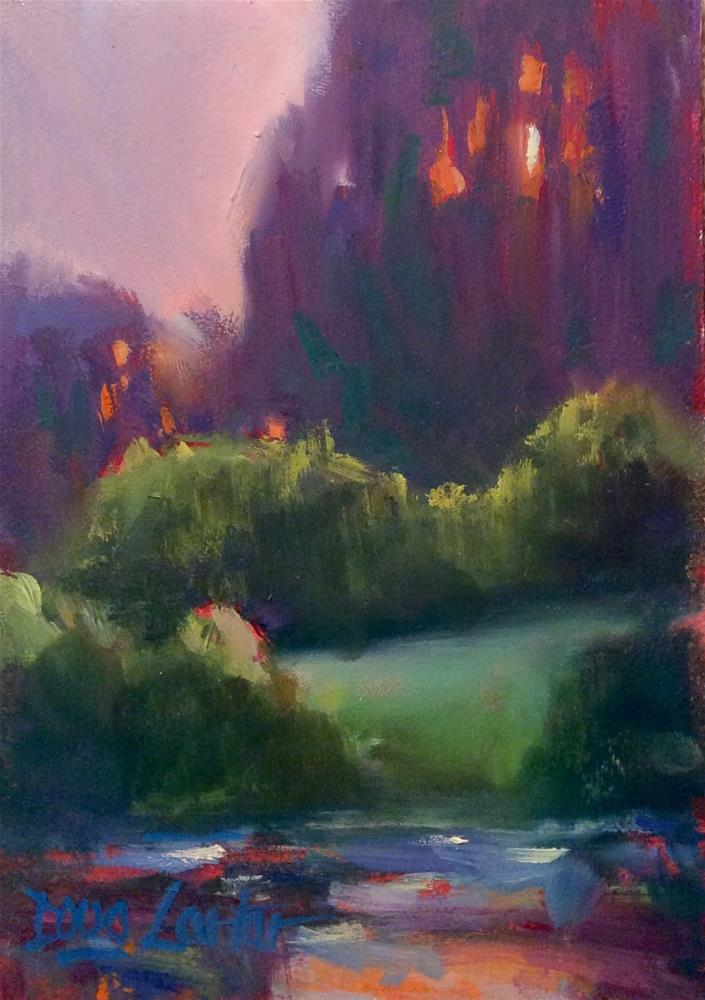 """"""" PURPLE VALE """" original fine art by Doug Carter"""