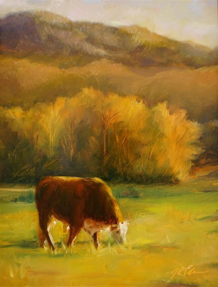 """Mountain Grazing"" original fine art by Marilyn R. Place"