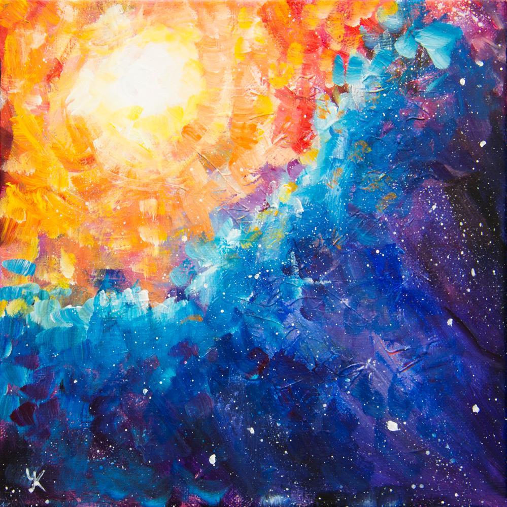 """Big Bang"" original fine art by Yulia Kazansky"