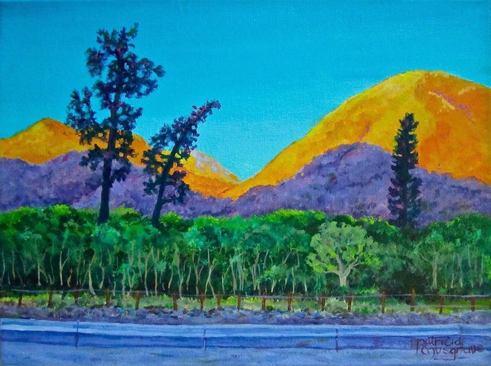 """Mountain Shadows"" original fine art by Patricia Musgrave"