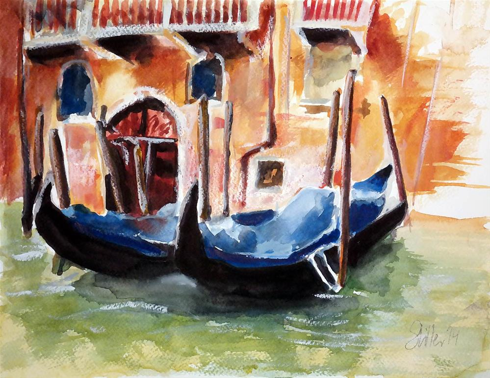 """1211 Gondola"" original fine art by Dietmar Stiller"
