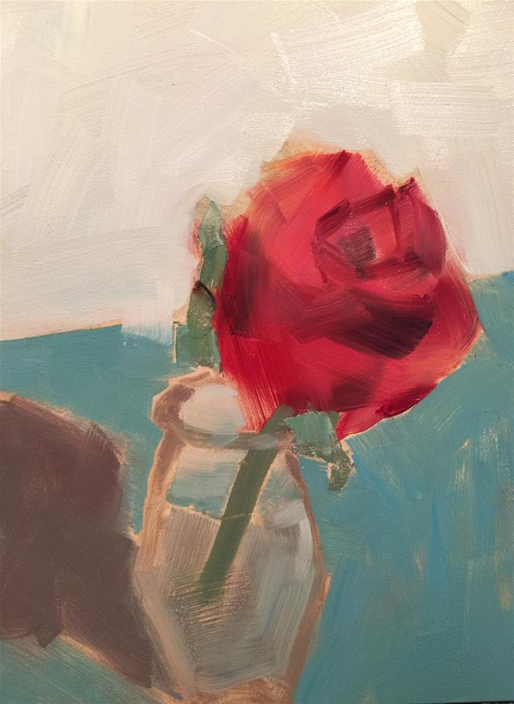 """108 Red Rose"" original fine art by Jenny Doh"